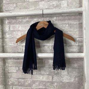 Pendleton Navy Blue Wool Scarf